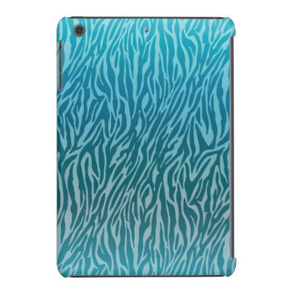 Aqua Ombre Zebra Print iPad Mini Retina Case