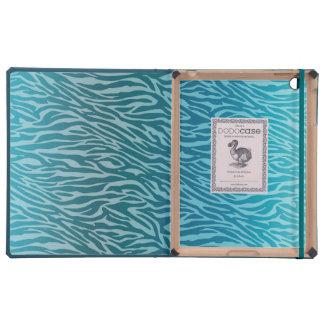 Aqua Ombre Zebra Print