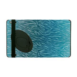 Aqua Ombre Zebra Print iPad Case