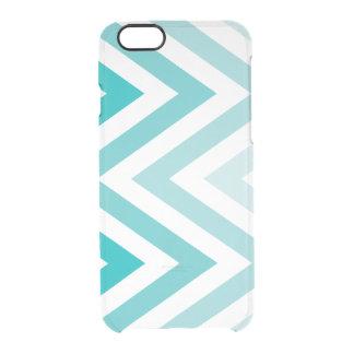 Aqua Ombre Zigzags Clear iPhone 6/6S Case