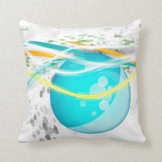 Aqua Orb Abstract American MoJo Pillow