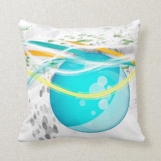 Aqua Orb Abstract American MoJo Pillow Throw Cushion