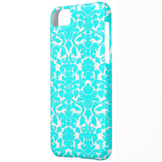 Aqua Ornate Floral Damask Pattern iPhone 5C Case