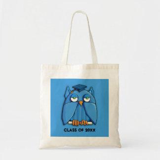Aqua Owl aqua Grad Bag