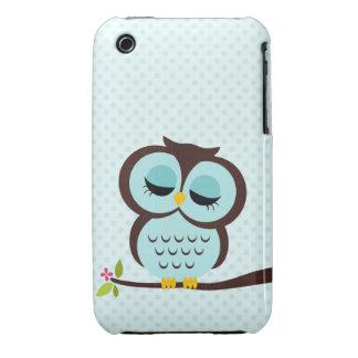 Aqua Owl Case for iPhone 3GS iPhone 3 Case-Mate Case