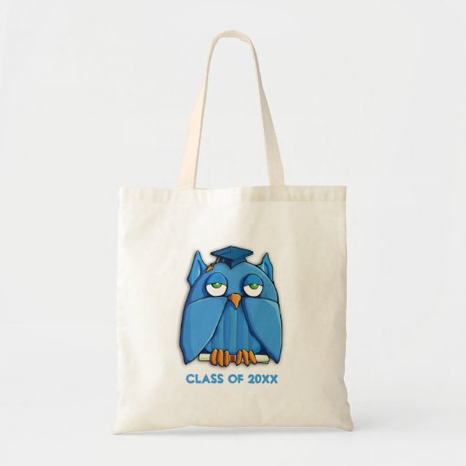 Aqua Owl Grad Bag