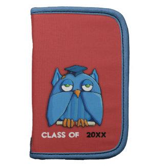 Aqua Owl Grad red Folio Planner Organizer
