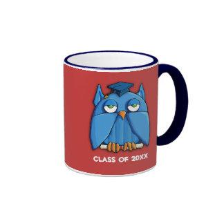 Aqua Owl Grad red Mug