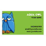 Aqua Owl green Business Card