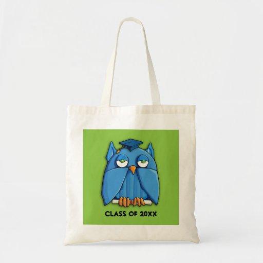Aqua Owl green Grad Bag