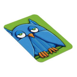 Aqua Owl green Premium Magnet
