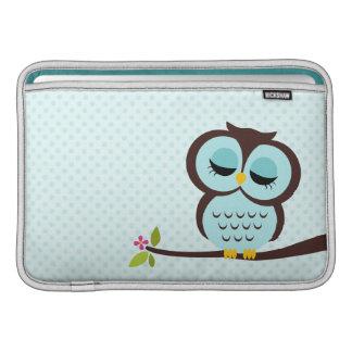 Aqua Owl Macbook Air Sleeve