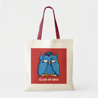 Aqua Owl red Grad Bag