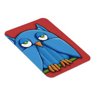 Aqua Owl red Premium Magnet