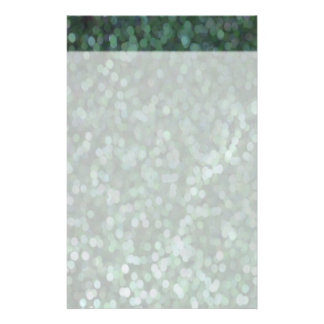 Aqua Painted Glitter Shimmer Custom Stationery