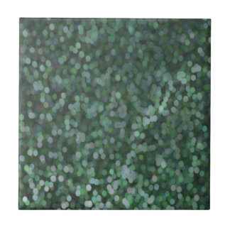 Aqua Painted Glitter Shimmer Small Square Tile