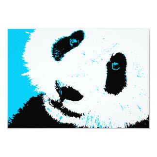 aqua panda 9 cm x 13 cm invitation card