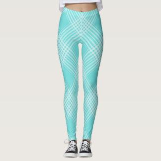 Aqua Pastel Plaid All-Over-Print Leggings