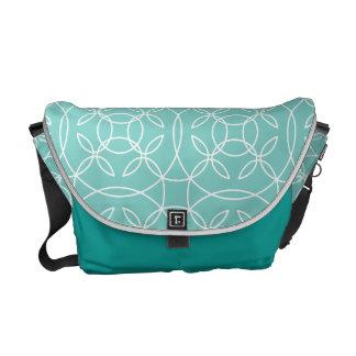 Aqua Pattern Messenger Bag