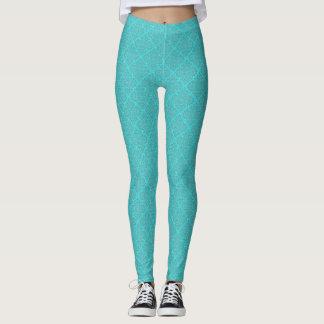 Aqua Patterned Leggings