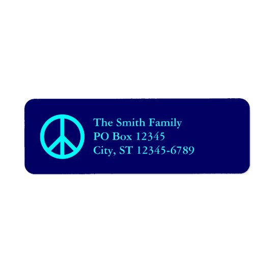 Aqua Peace Symbol Address Labels