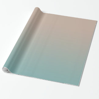 Aqua Peach Gradient Wrapping Paper
