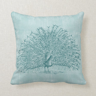 Aqua Peacock Cushion