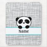 Aqua Personalised Panda Mouse Pad