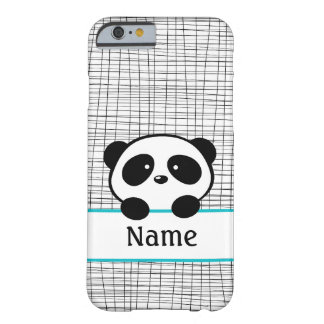 Aqua Personalized Panda iPhone 6 Case Barely There iPhone 6 Case