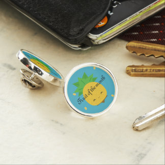 Aqua Pineapple Fruit of the month lapel pin