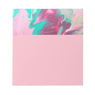 Aqua & Pink Abstract Note Pad