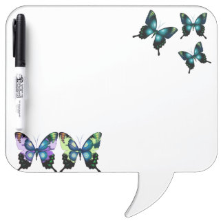 Aqua, Pink, and Yellow -  Elegant Butterflies Dry Erase Board
