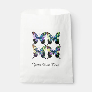 Aqua, Pink, and Yellow -  Elegant Butterflies Favour Bags