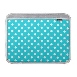 Aqua Polka Dot Pattern MacBook Sleeve