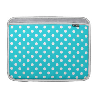 Aqua Polka Dot Pattern Sleeves For MacBook Air