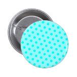 Aqua Polka Dots Button