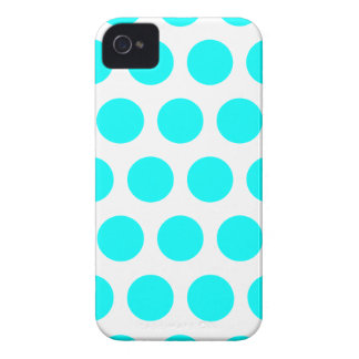 Aqua Polka Dots iPhone 4 Cover