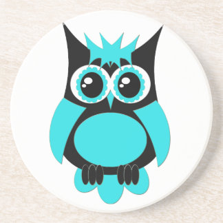 Aqua Punk Owl Coaster