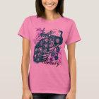 Aqua Purple Peacock, Customised Text Design T-Shirt