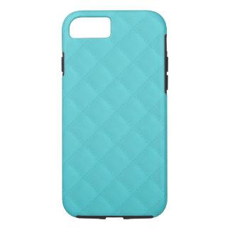 Aqua Quilted Leather iPhone 7 Case