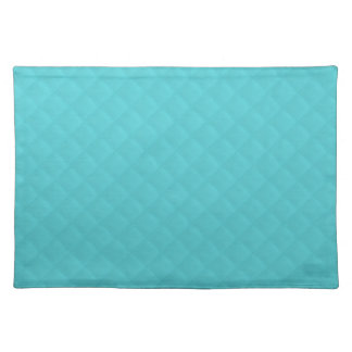 Aqua Quilted Leather Placemat