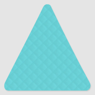Aqua Quilted Leather Triangle Sticker