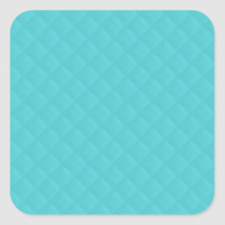 Aqua Quilted Leather Wedding Square Sticker