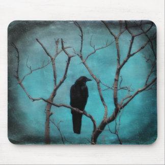 Aqua Raven Art Mouse Mat