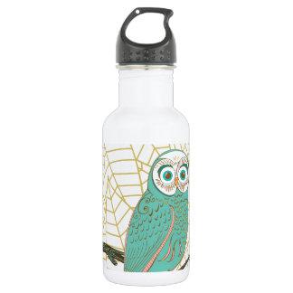 Aqua Retro Owl Design 532 Ml Water Bottle