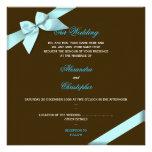 Aqua Ribbon Wedding Announcement S4