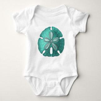 Aqua Sand Dollar Baby Bodysuit