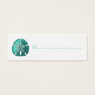 Aqua Sand Dollar Reception Table Seating Cards
