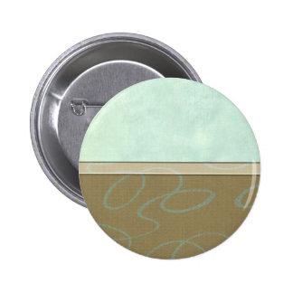 Aqua Scribble Pinback Buttons