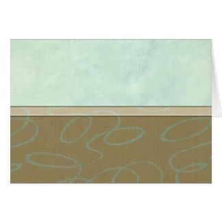 Aqua Scribble Cards